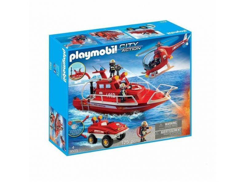 Łódź strażacka playmobil