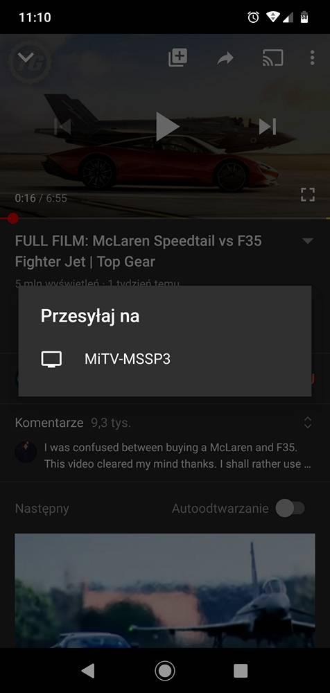 połączenie telefonu z telewizorem Xiaomi Mi TV