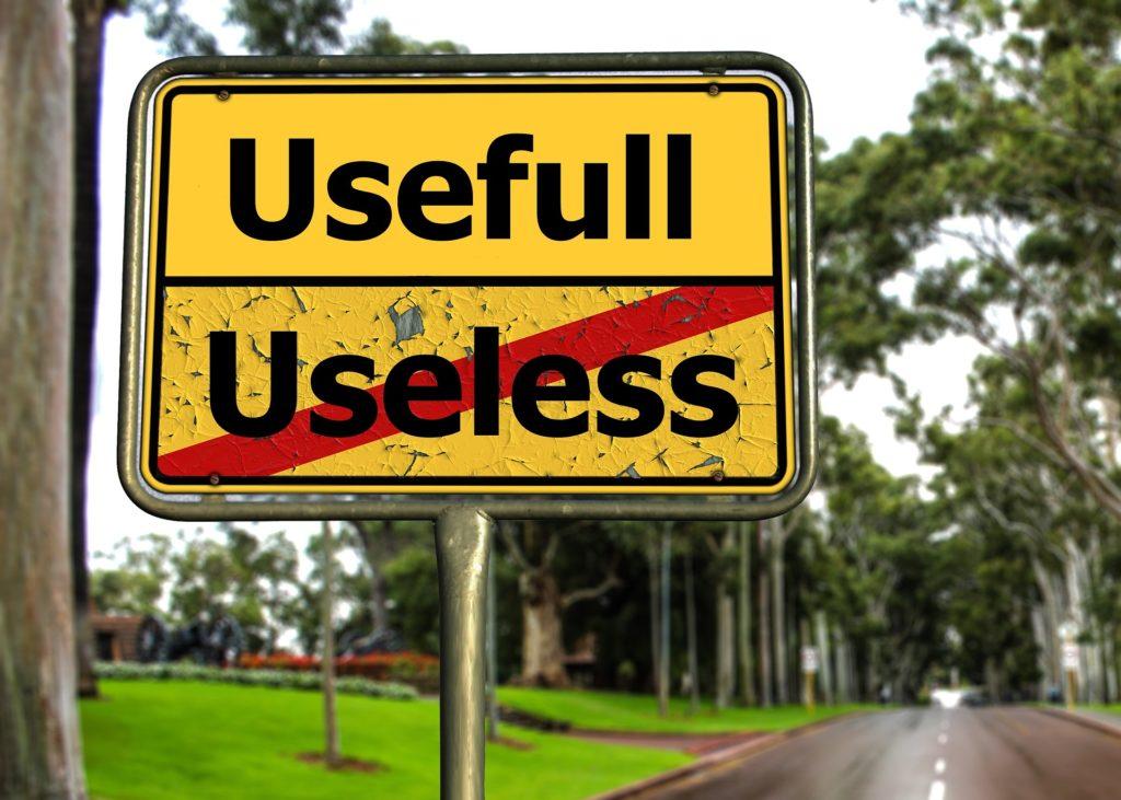 znak użyteczny bezużyteczny