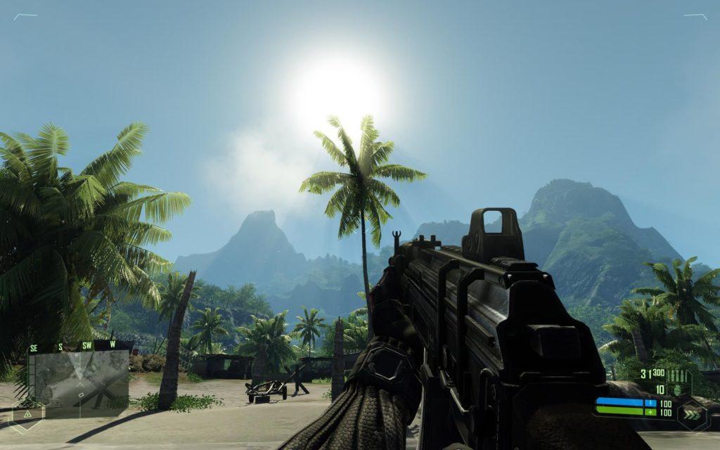 Sreenshot z gry Crysis pokaz możliwości graficznych
