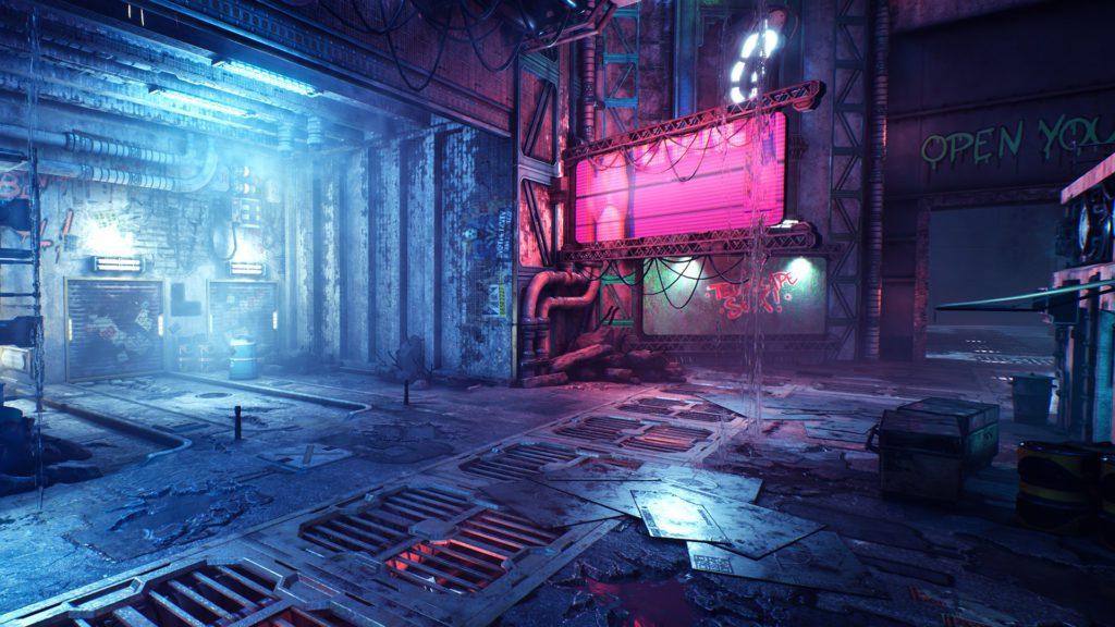 Ghostrunner screenshot świat gry
