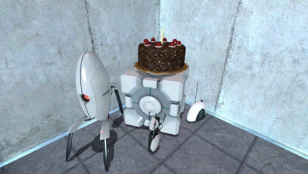 Portal wieżyczka strzelnicza i ciasto