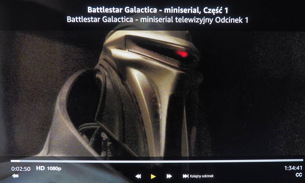 kadr z serialu battlestar galactica na ekranie xiaomi mi tv
