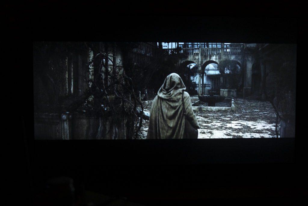 kadr z filmu Ben Hur na ekranie samsunga qe55q80ta