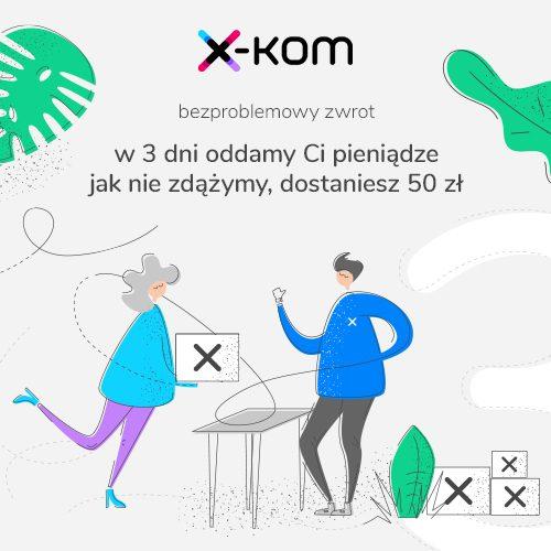 grafika promująca akcję bezproblemowy zwrot w x-kom