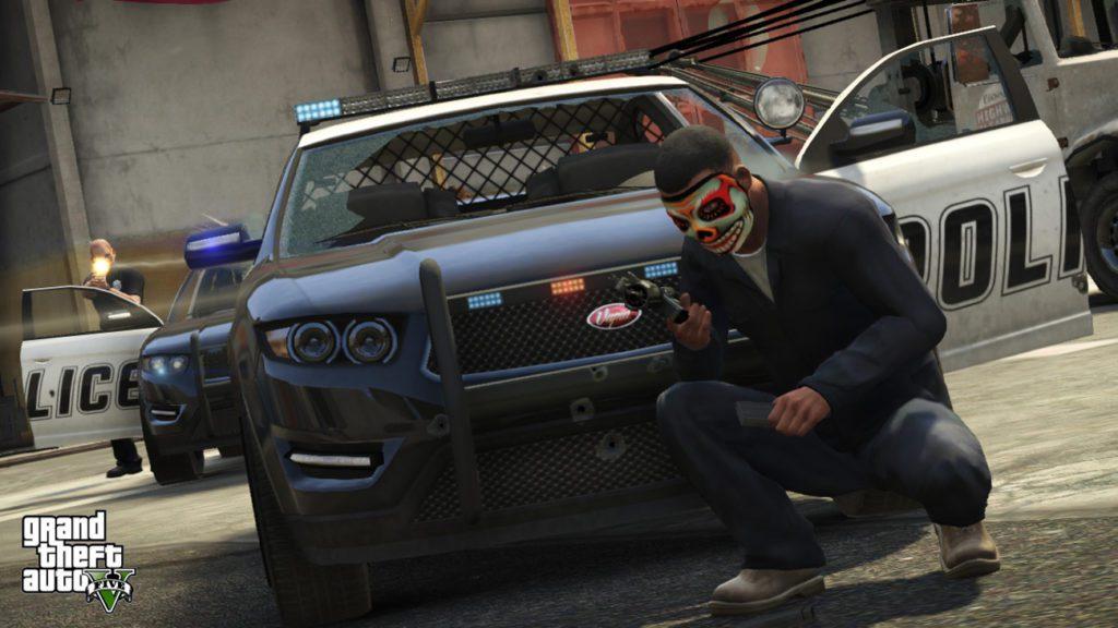 GTA 5 maska klauna
