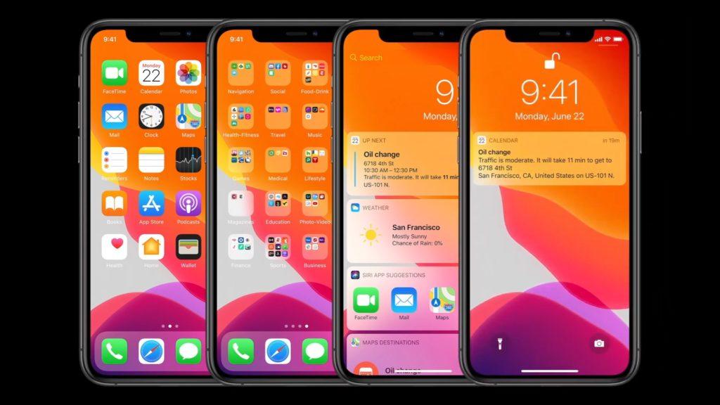 iOS 14 na ekranie iPhone