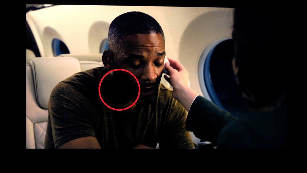 utrata detali w cieniu widoczna na kadrze z filmu Bliźniak