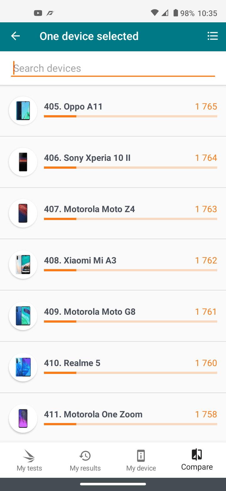 moto g8 benchmark 3dmark ranking