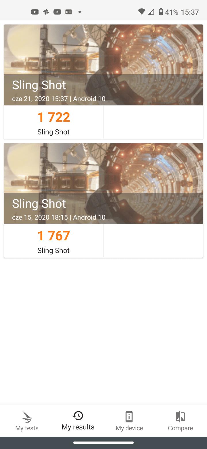 moto g8 benchmark 3dmark slingshot