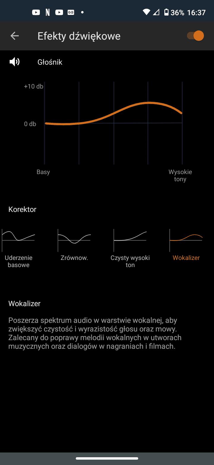 Motorola Moto G8 efekty dźwiękowe
