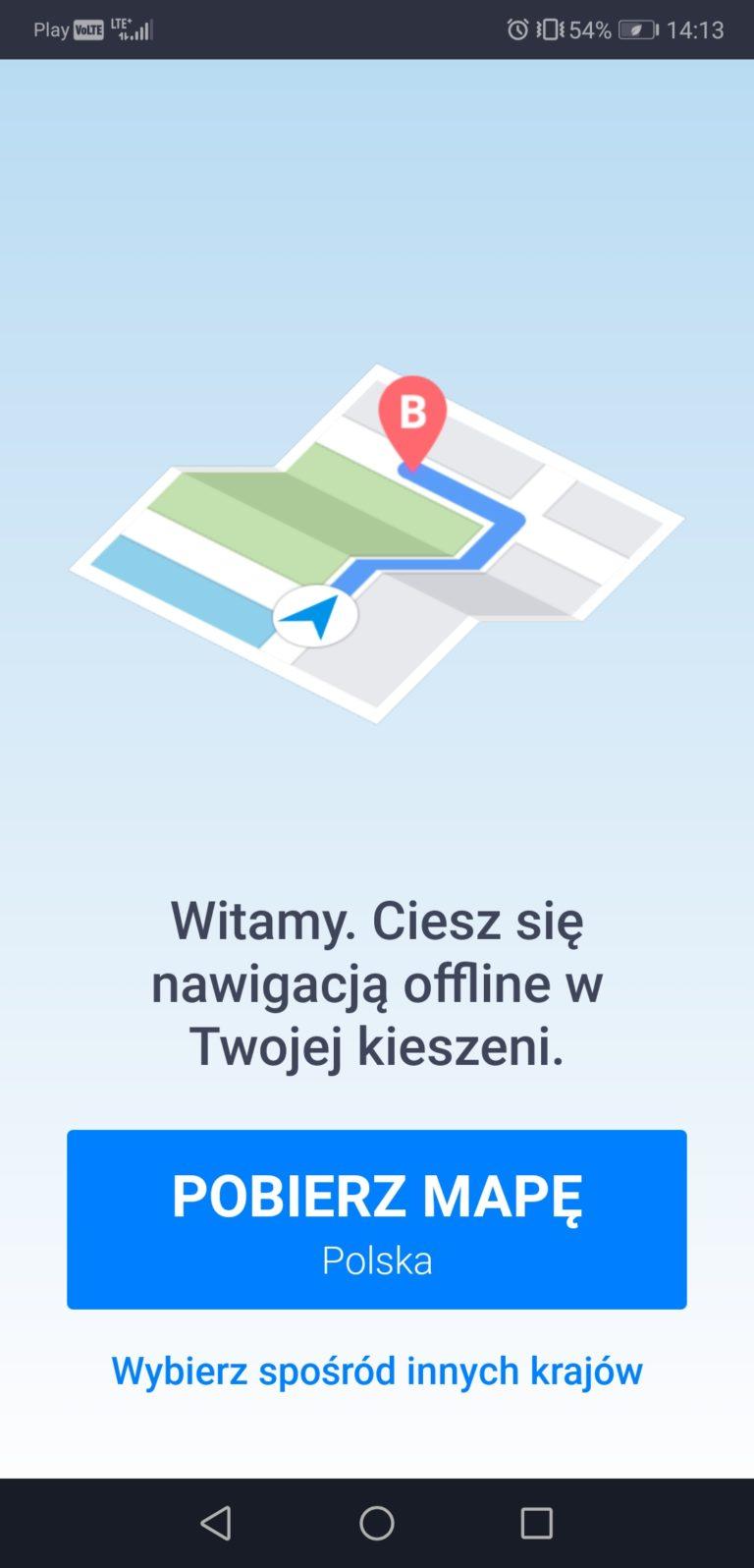 nawigacja offline smartfon geex