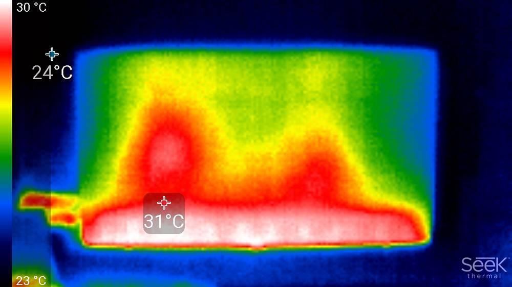 rodzaj podświetlenia zastosowanego w telewizorze samsung 55q64ta - obraz z kamery termowizyjnej