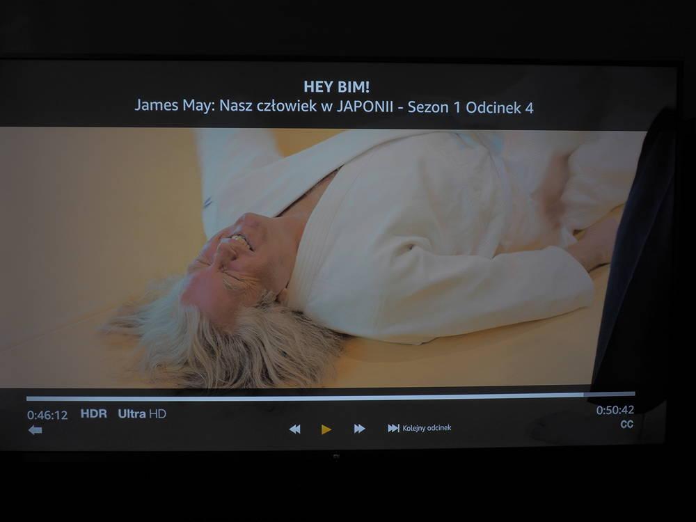 materiał wideo z amazon prime na ekranie tv xiaomi