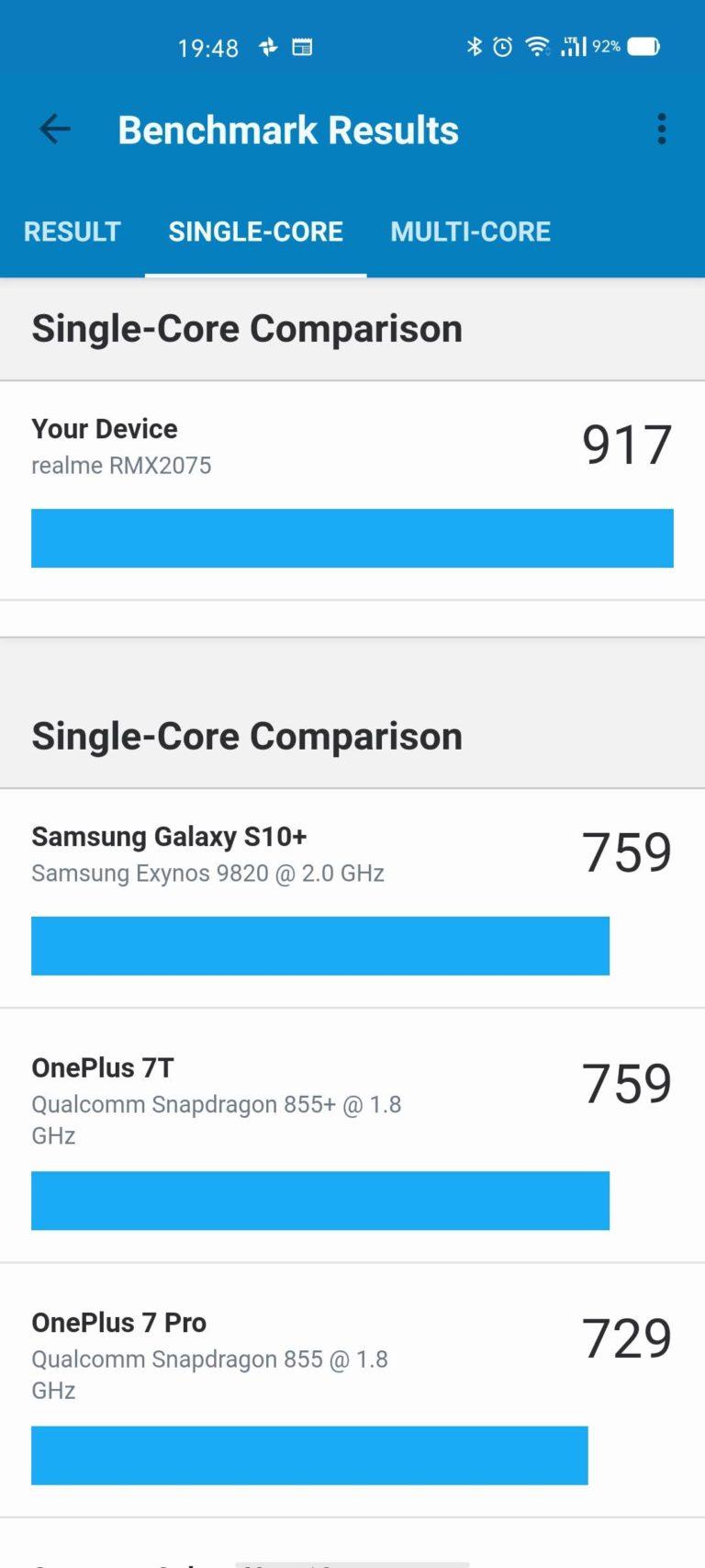 realme x50 pro benchmark geekbench 2