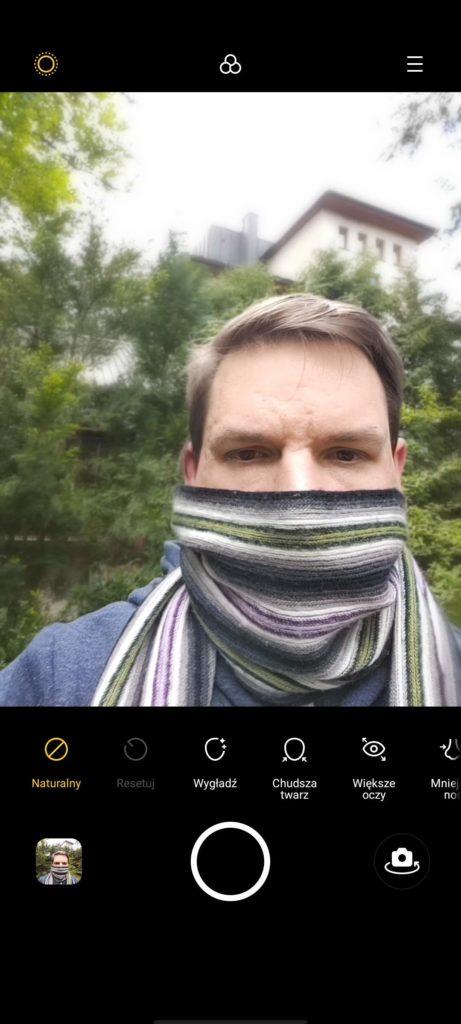 realme x50 pro selfie upiększanie
