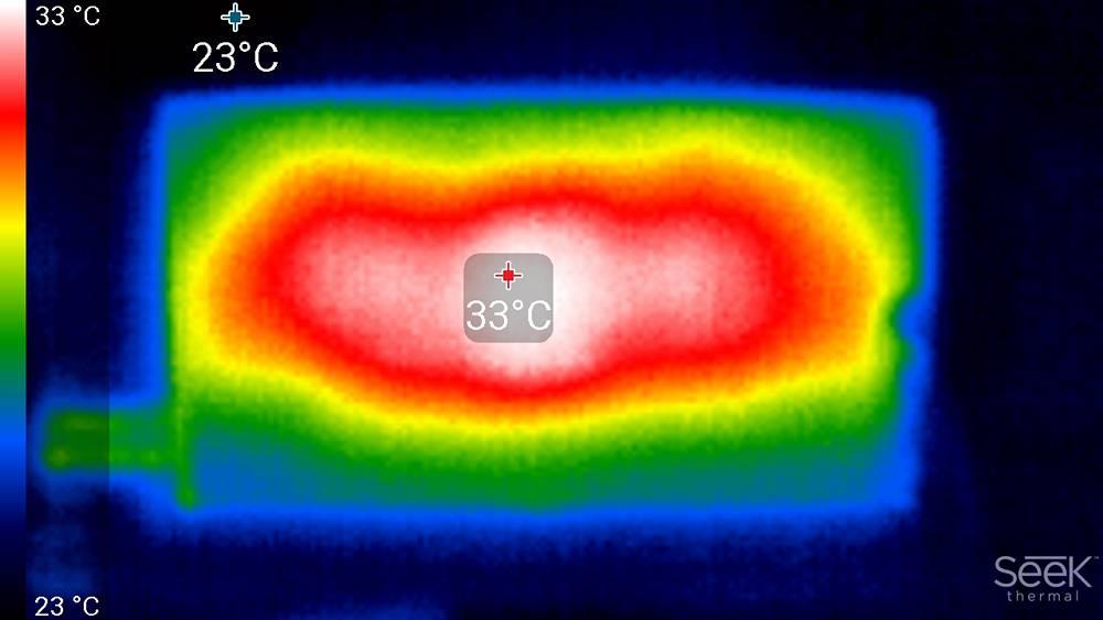 rodzaj podświetlenia użytego w samsungu qe55q80ta - obraz z kamery termowizyjnej