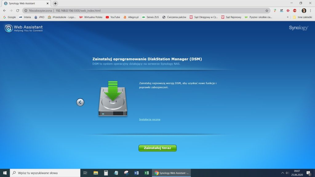 Web Assistant Synology DS218