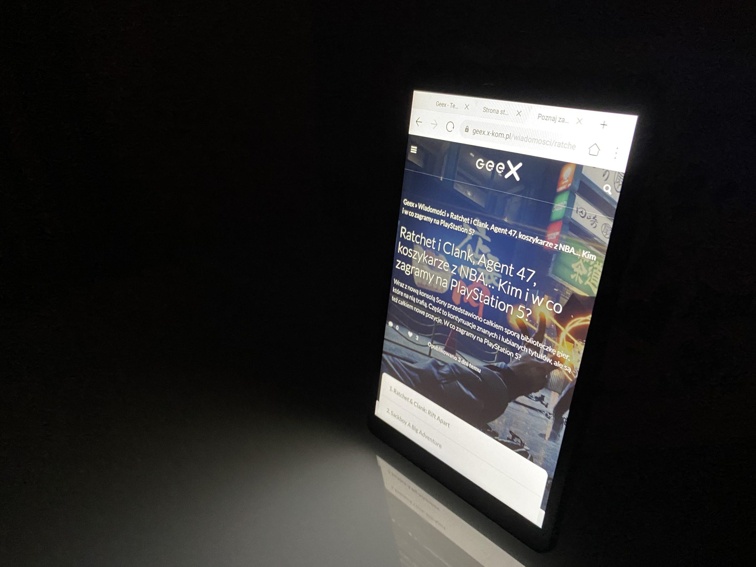 tablet Huawei Mate Mad T8 - kąty widzenia