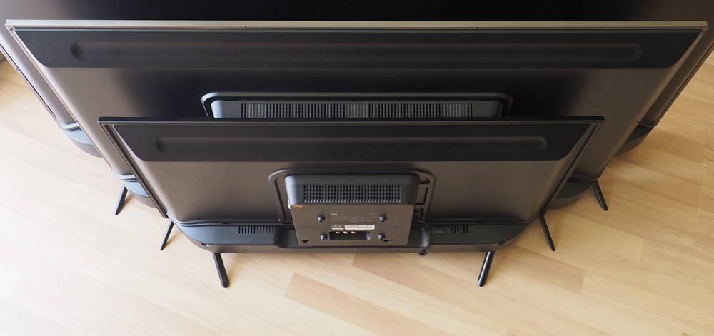 porównanie wielkości trzech telewizorów xiaomi