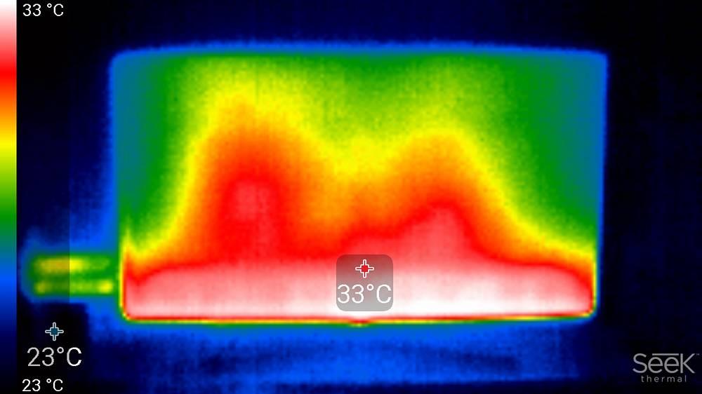 termogram pokazujący rodzaj podświetlenia zastosowanego w samsungu 55tu8502