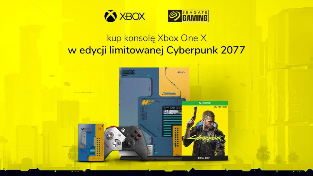 Konsola Xbox w stylu Cyberpunk 2077