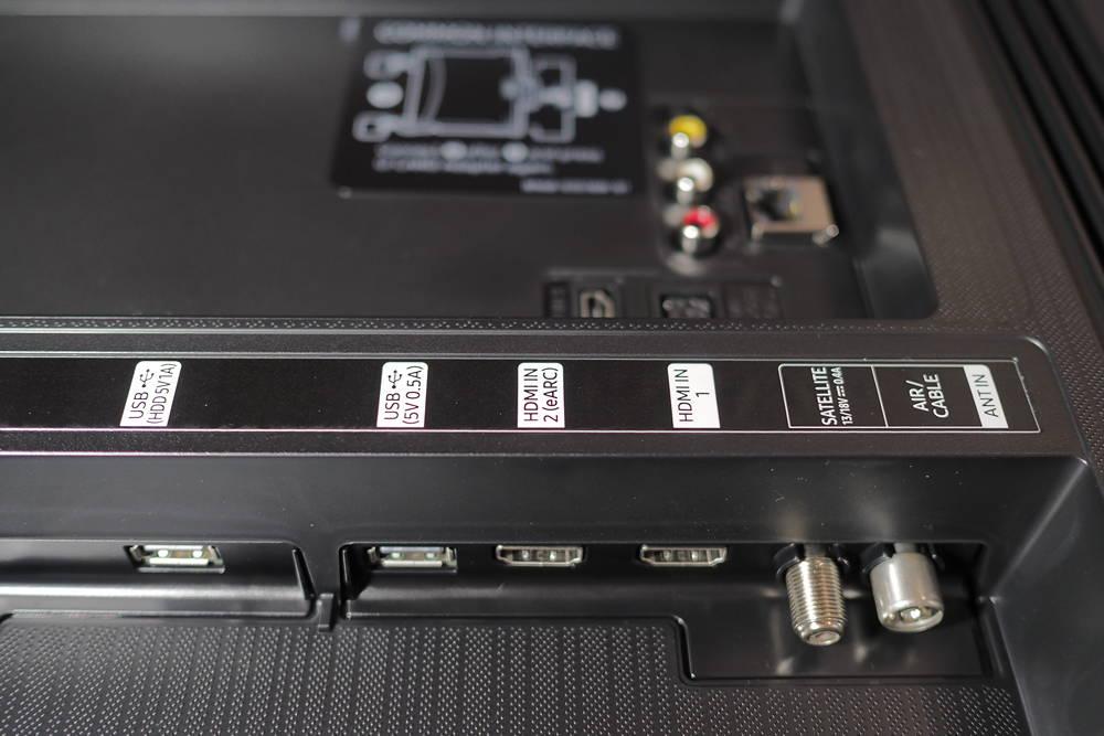 złącza telewizora samsung 55tu8502