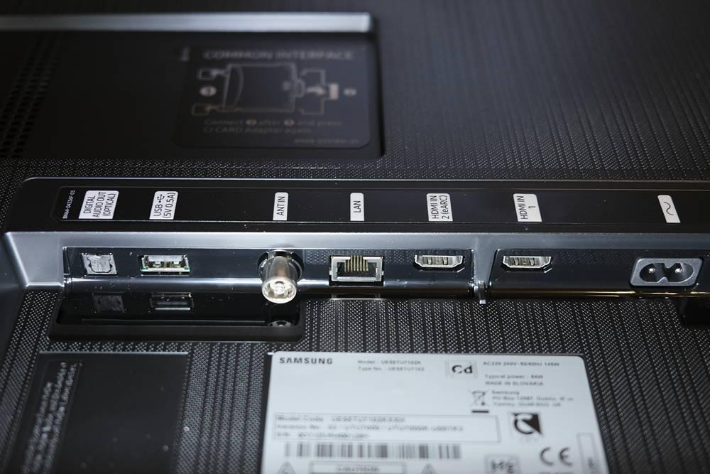 złącza telewizora samsung55tu7102