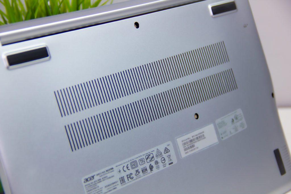 Acer Swift 3 Ryzen 5 4500U kratki wentylacyjne, system chłodzenia