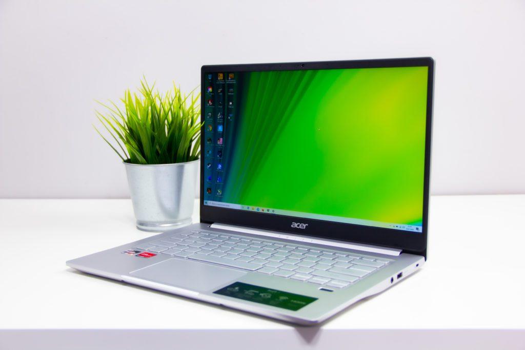 Acer Swift 3 Ryzen 5 4500U rzut ogólny, miniatura, perspektywa