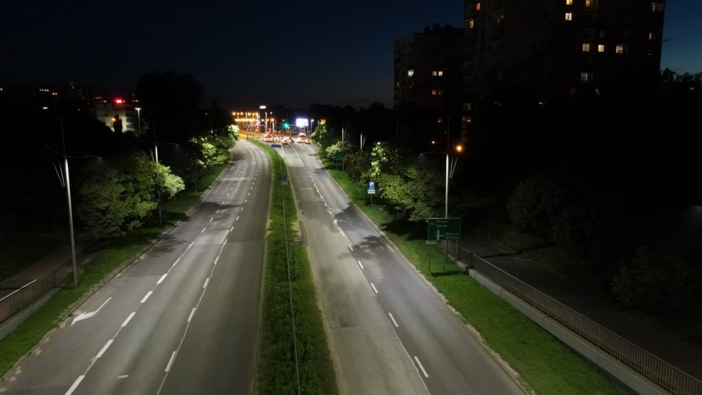 DJI Mavic Air 2 zdjęcia nocą