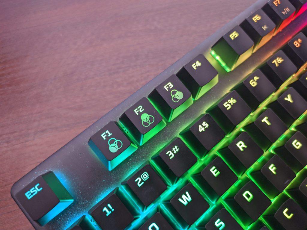 HyperX Alloy Origins klawisze do profili