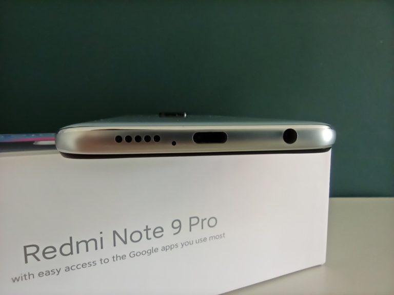 głośnik i wejścia w Redmi Note 9