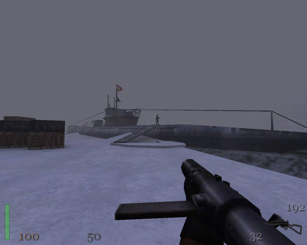 Return to Castle Wolfenstein uboot skradanie się