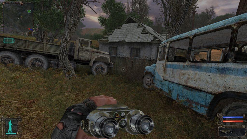STALKER Shadow of Chernobyl lornetka w grze