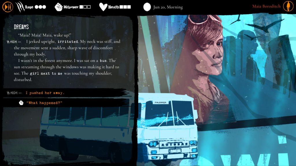 Werewolf: the Apocalypse rozmowa z Anyą w autobusie