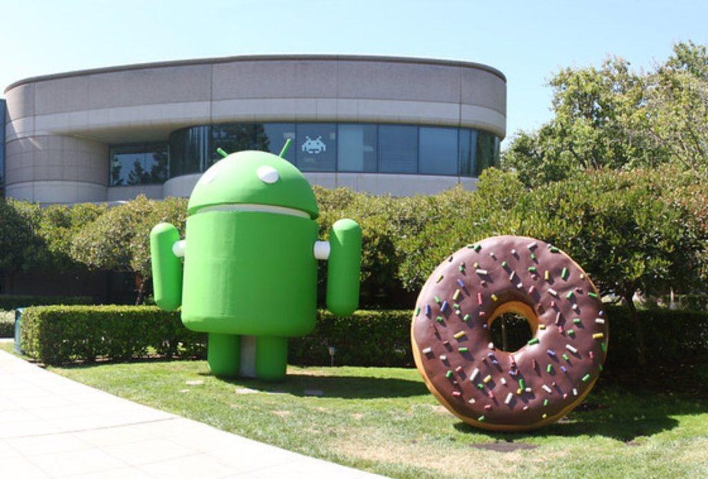 Android Donut rzeźba