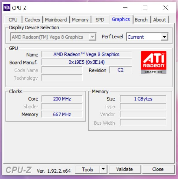 MateBook 13 Ryzen CPU-Z graphics