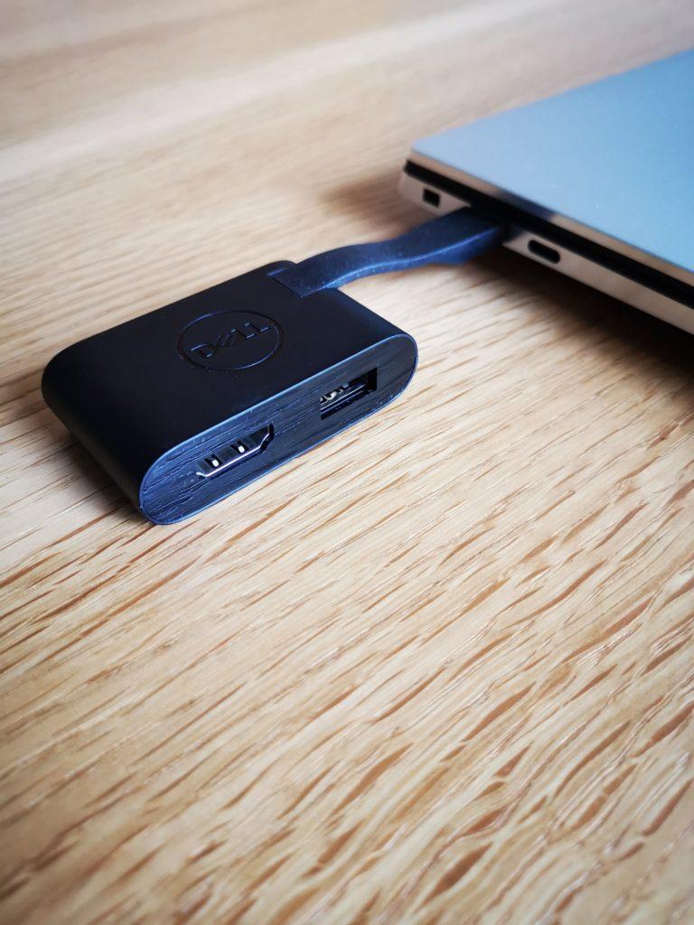 Dell XPS 15 9500 adapter USB i HDMI
