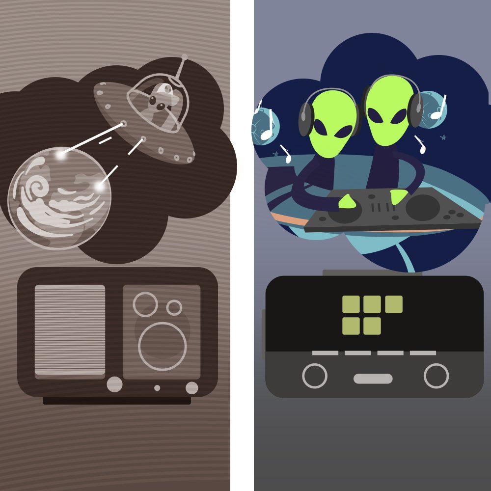 luneta futura radio wojna światów kosmici