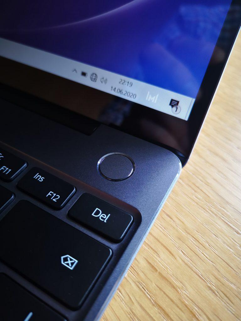 MateBook 13 2020 Ryzen skaner linii papilarnych