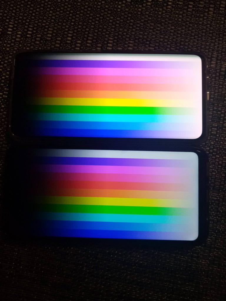 test kolorów OLED vs IPS