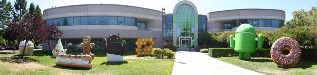 siedziba Google rzeźby Androida