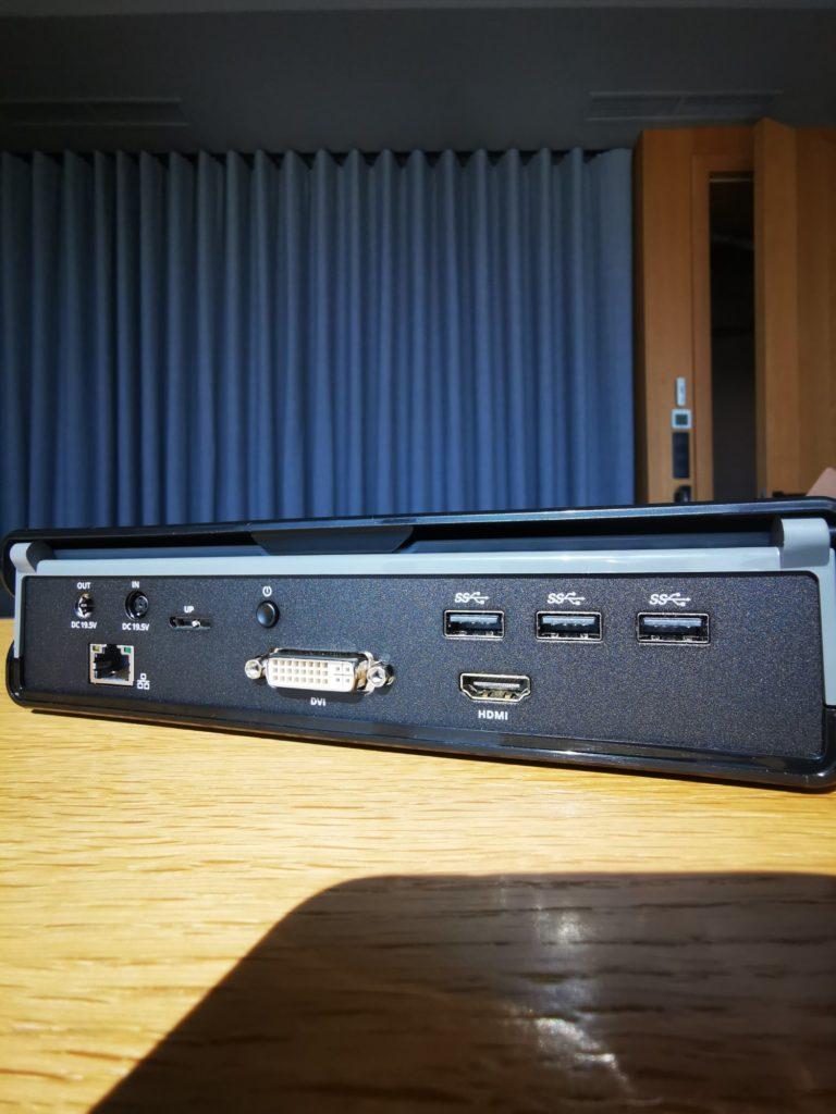 Porty USB z tyłu stacji dokującej Targus