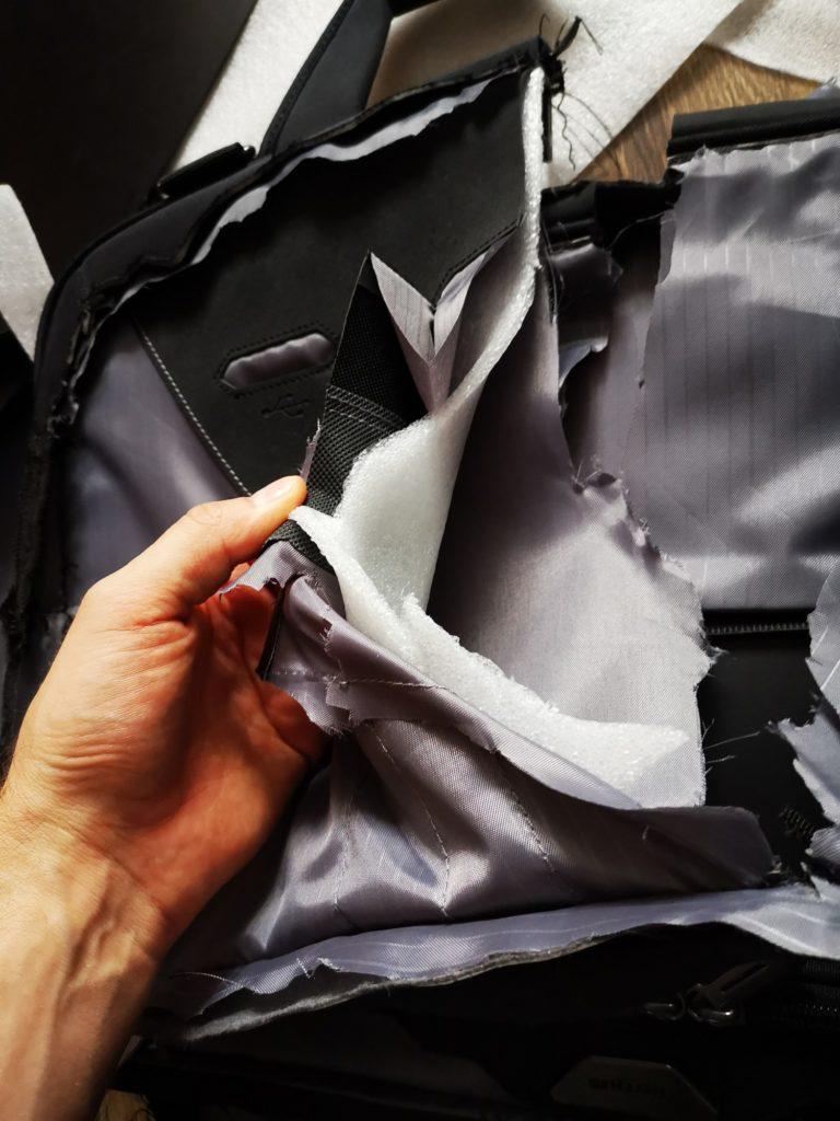 warstwy torby na laptopa Targus