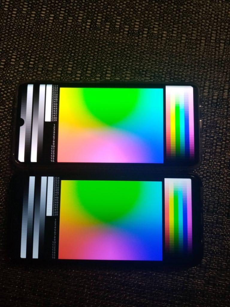 porównanie kolorów wyświetlacz ips i oled