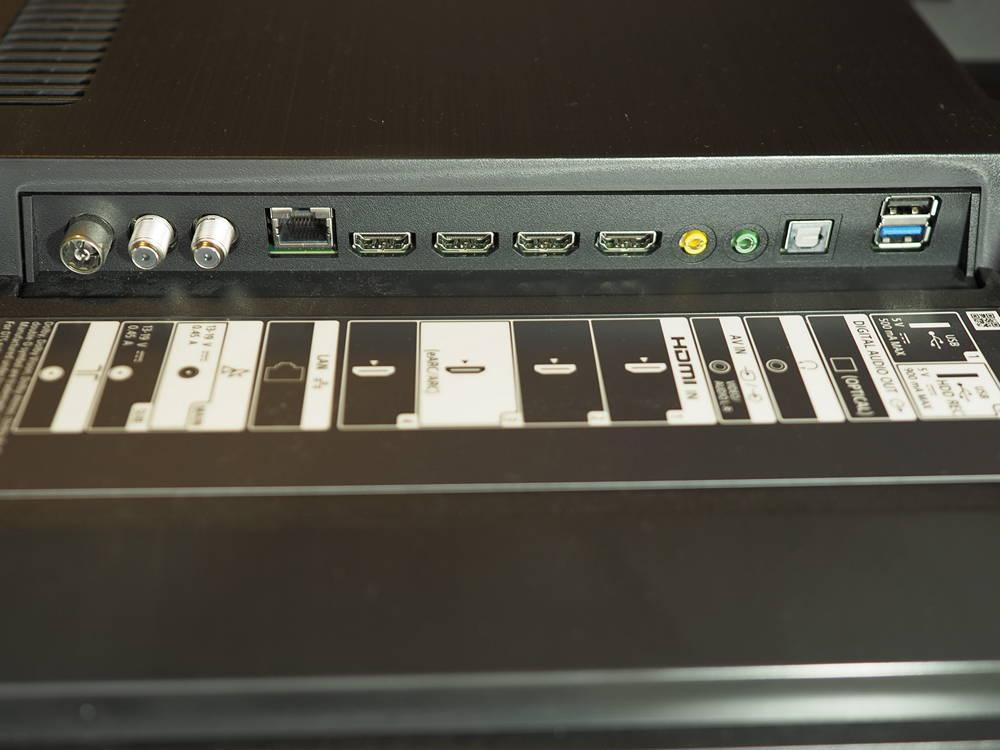 złącza telewizora sony kd-55xh9505