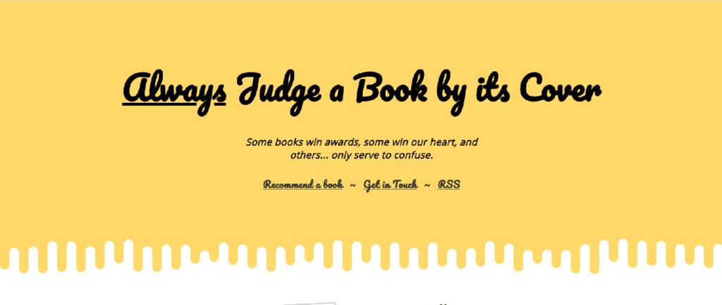 strona internetowa -zawsze oceniaj książkę po okładce