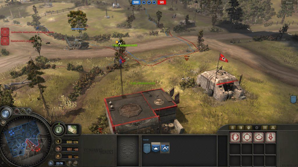 Company of Heroes walka czołgiem