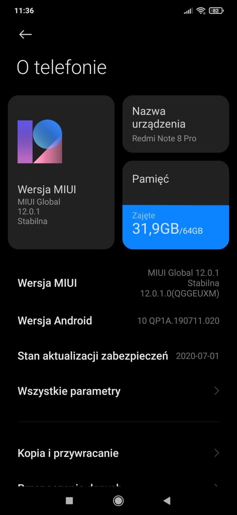 MIUI12 info